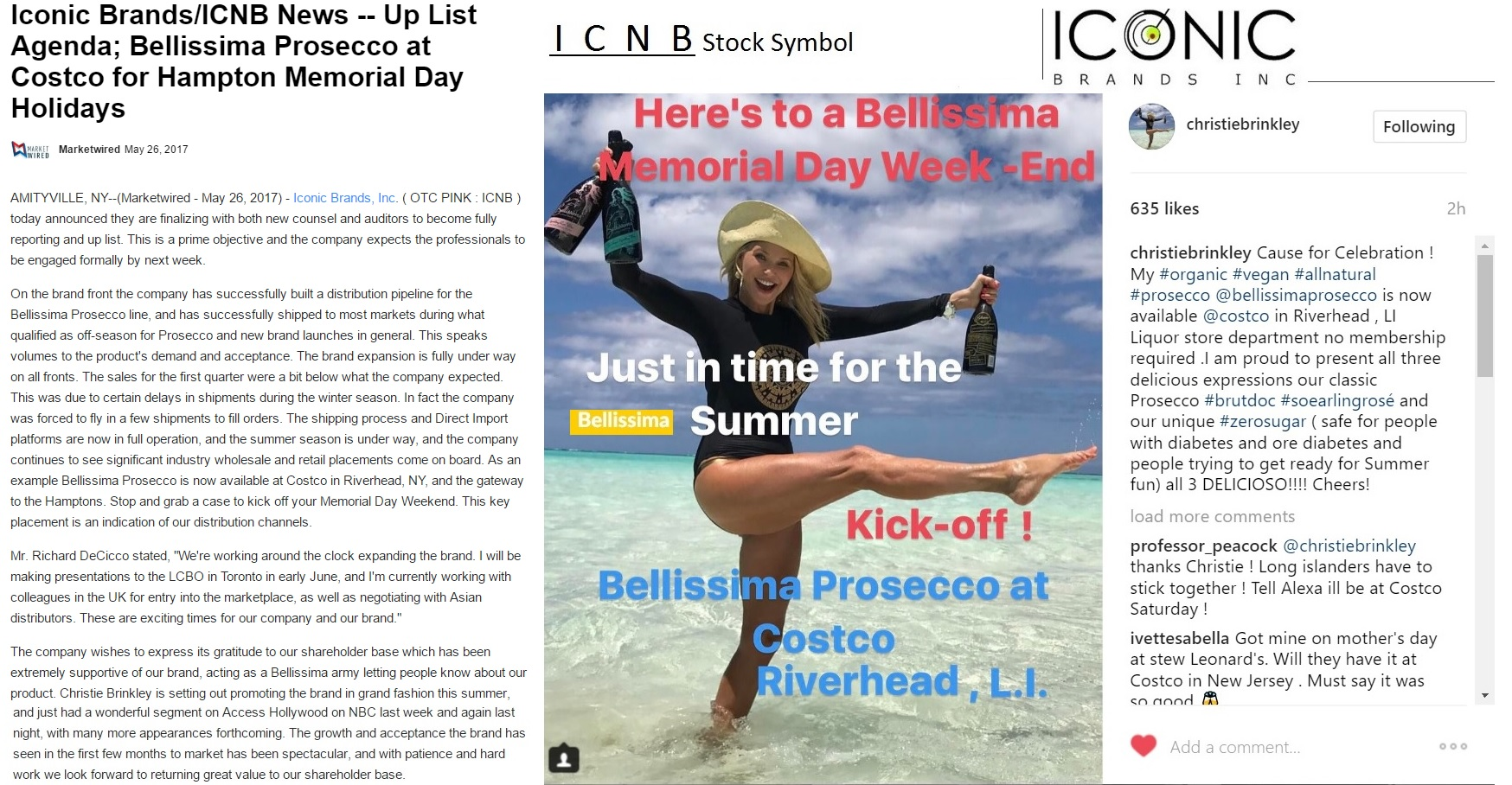 Bbs stock haven the power of christie brinkley marketing icnbs the sparkling christie brinkley on cbs sunday morning geenschuldenfo Images